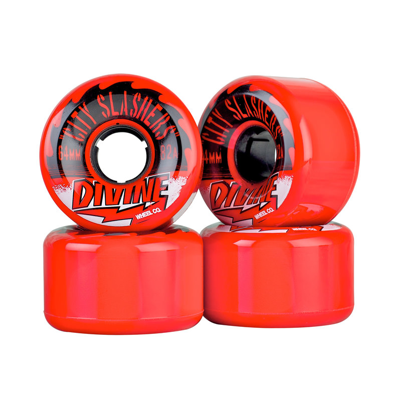 Комплект коліс для лонгборду Divine Wheel Co. City Slashers 64mm/82a