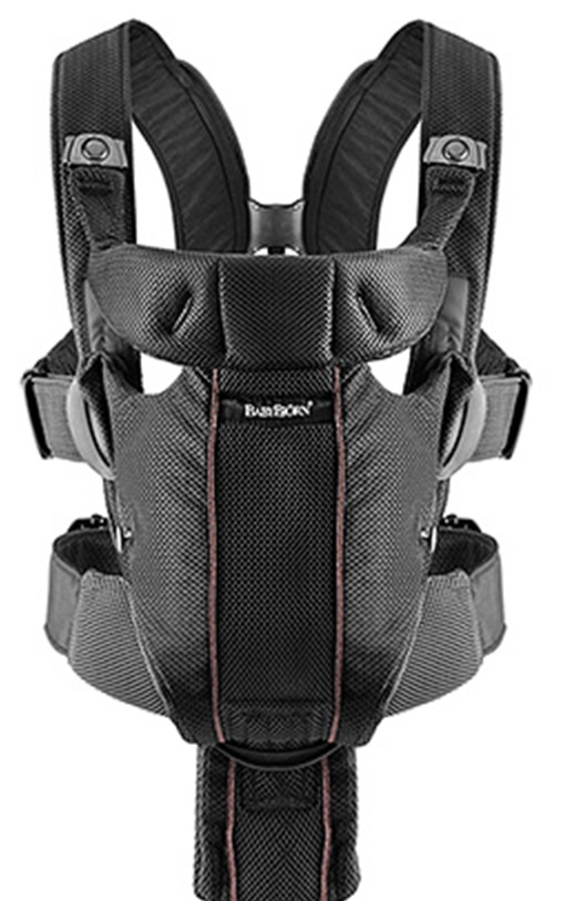 Рюкзак-переноска Baby Bjorn Miracle - black-brown mesh