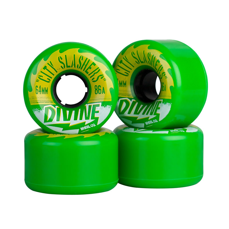 Комплект коліс для лонгборду Divine Wheel Co. City Slashers 64mm/86a